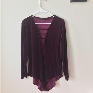 CR Burgundy Body Suit